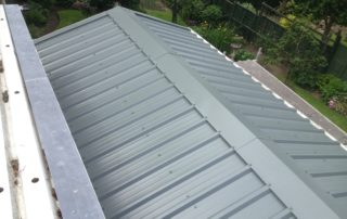 Sheeted Garage Roof